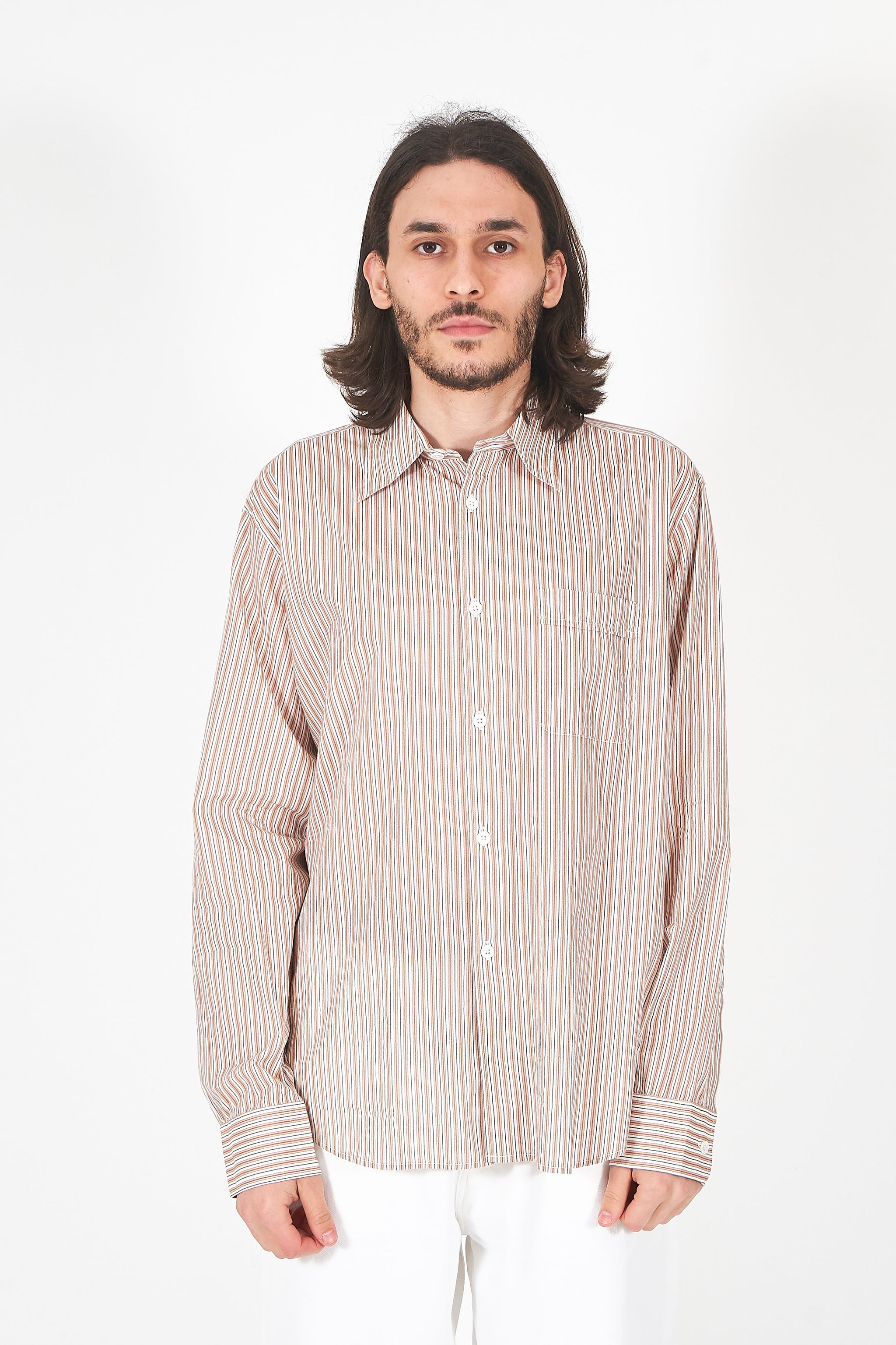 Policy Shirt Stripe Voile
