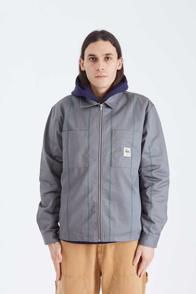 Full Zip Ls Work Shirt