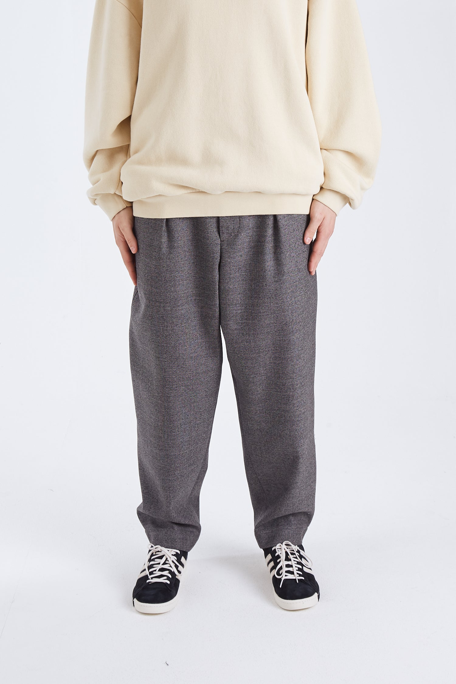 Textured Wool Pants