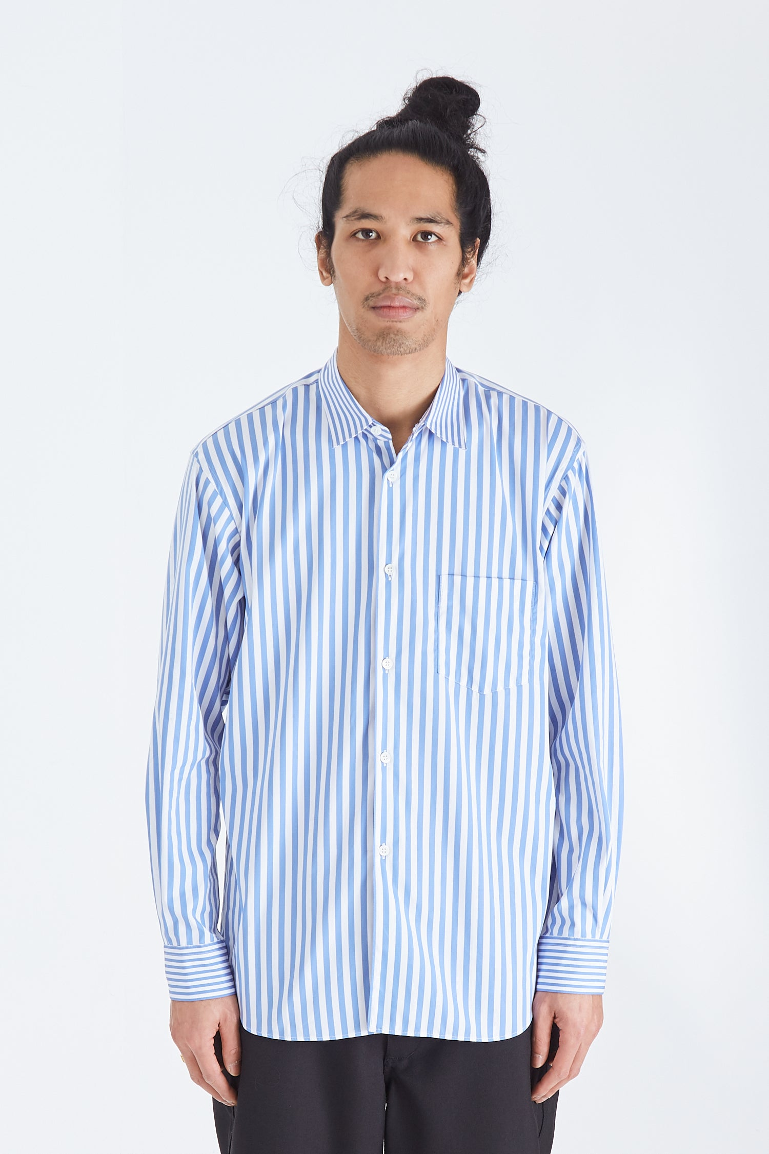 Mens Shirt Woven Striped Forever