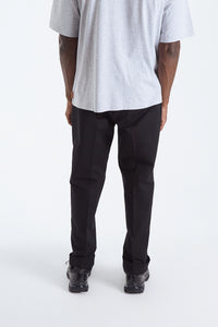 Pleated twill chinos