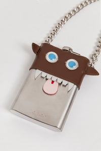 """Monster"" Metal & Leather Necklace"