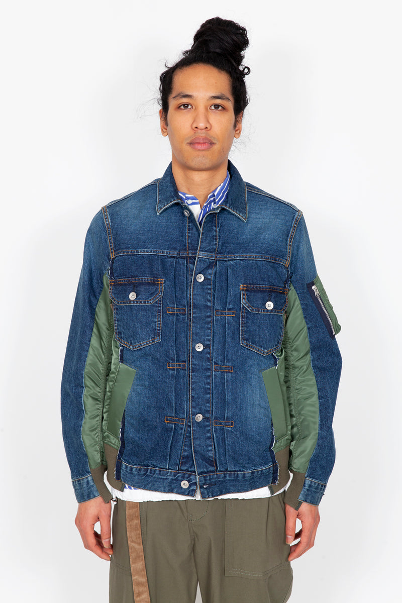 Denim x MA-1 Jacket