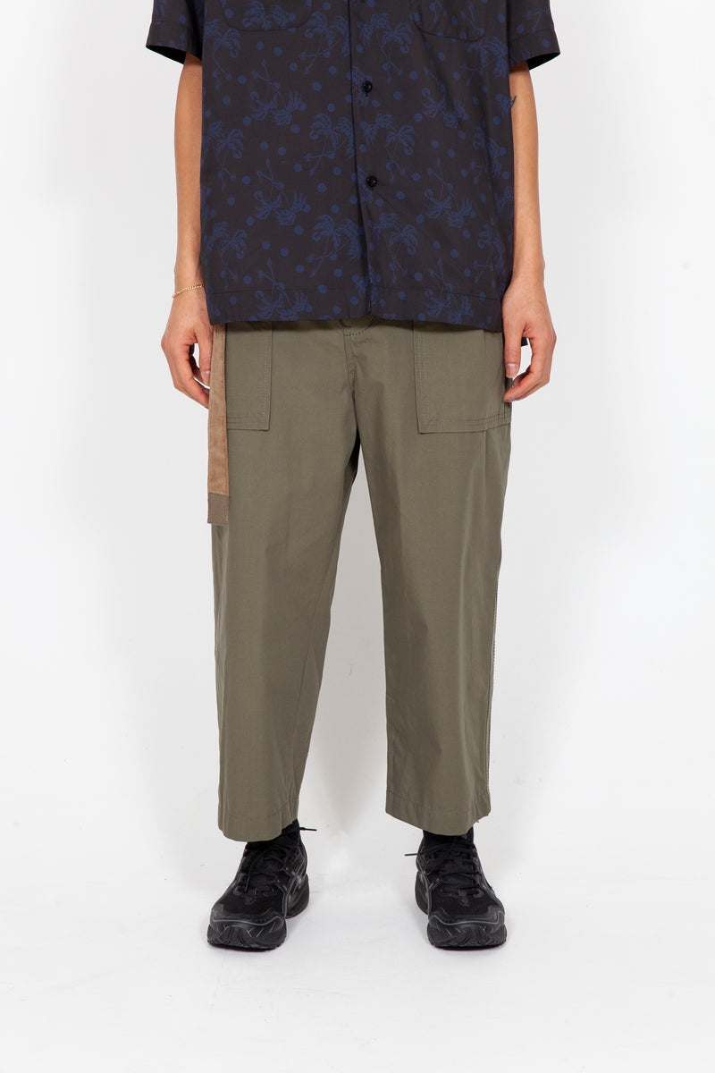 Fabric Cropped Pants