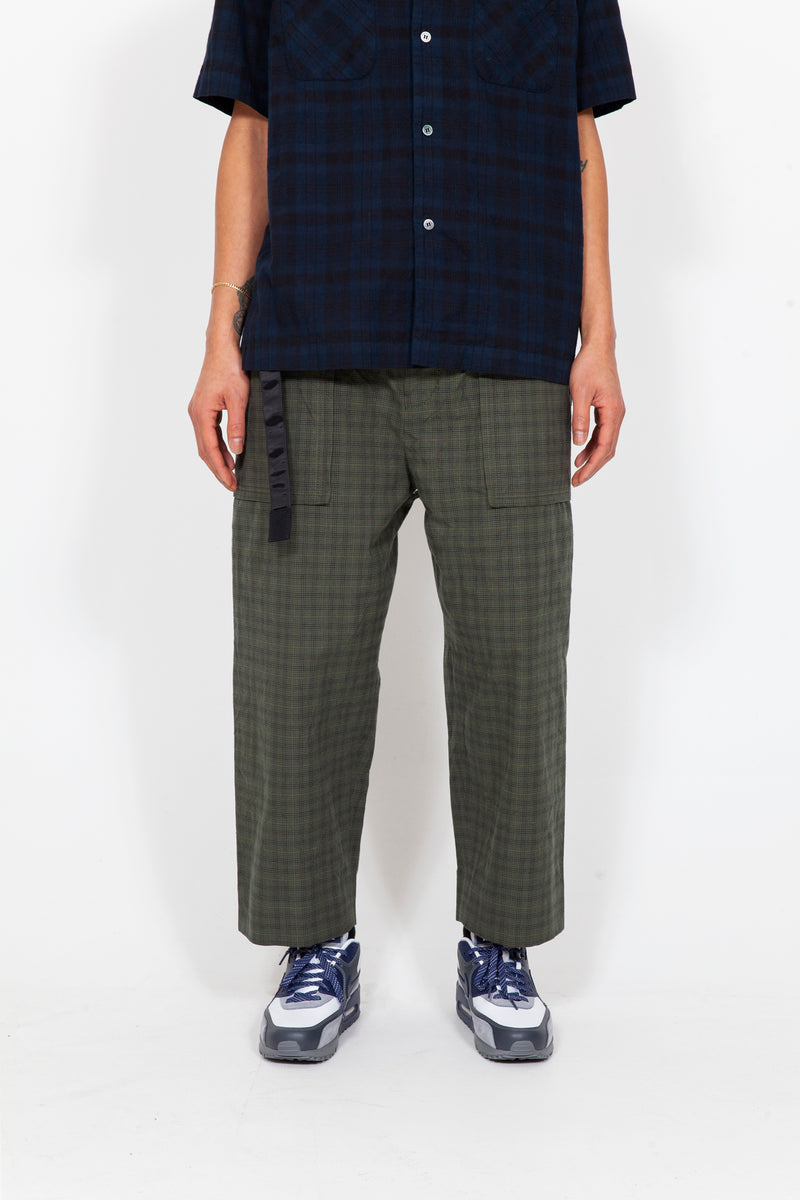 Glencheck Cropped Pants