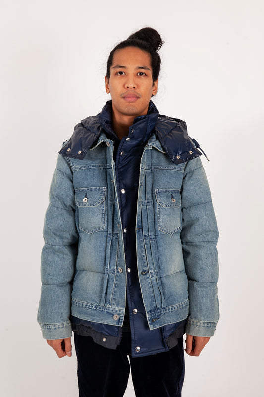 Denim Down Jacket