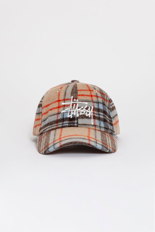 BIG LOGO PLAID LOW PRO CAP