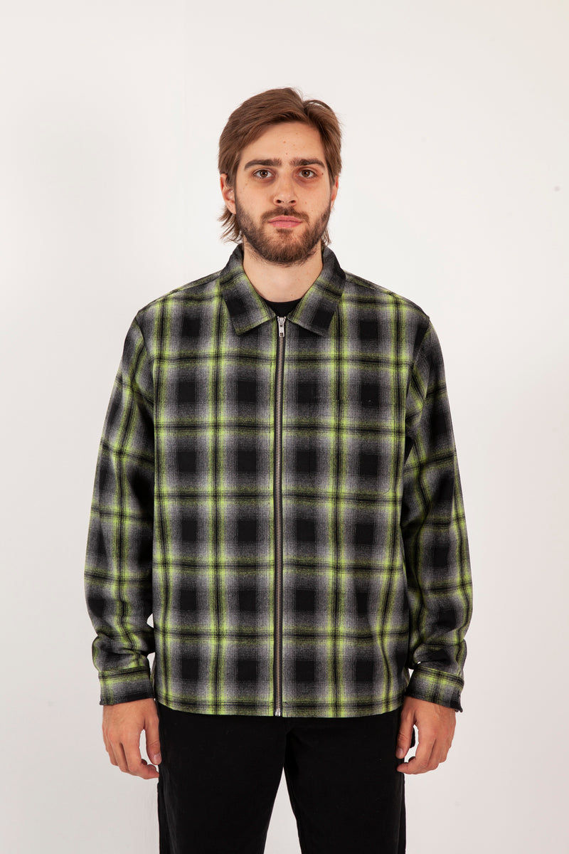 Gunn Plaid Zip Up L/S Shirt