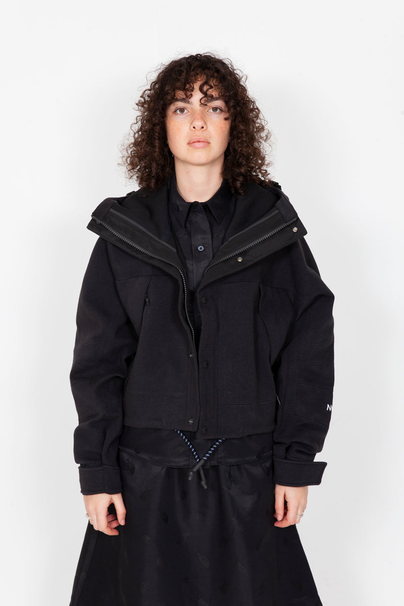 Black Series Spacer Knit Mountain Light Crop Jacket