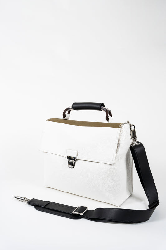 Grain Leather Satchel