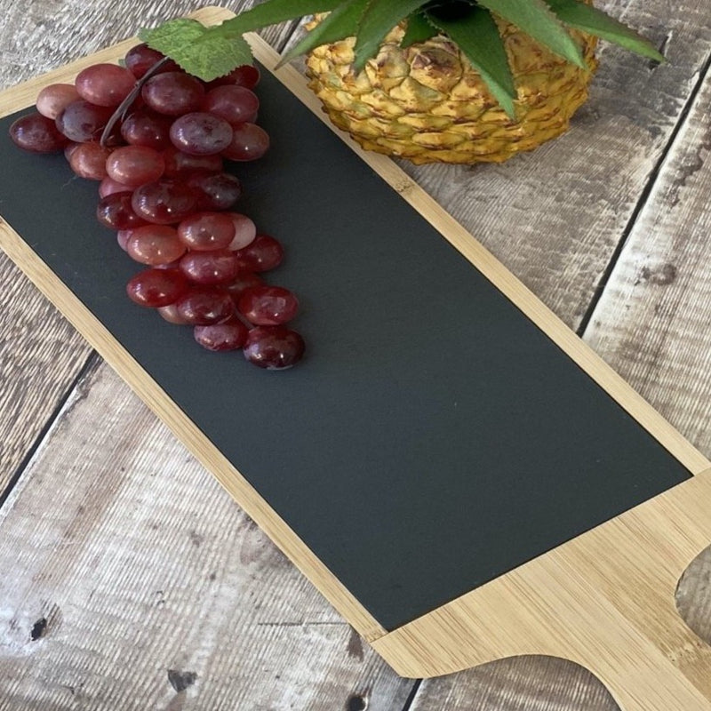 Slate and Bamboo Serving Paddle