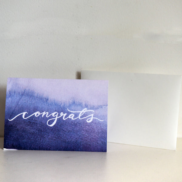 Watercolour Congrats Card