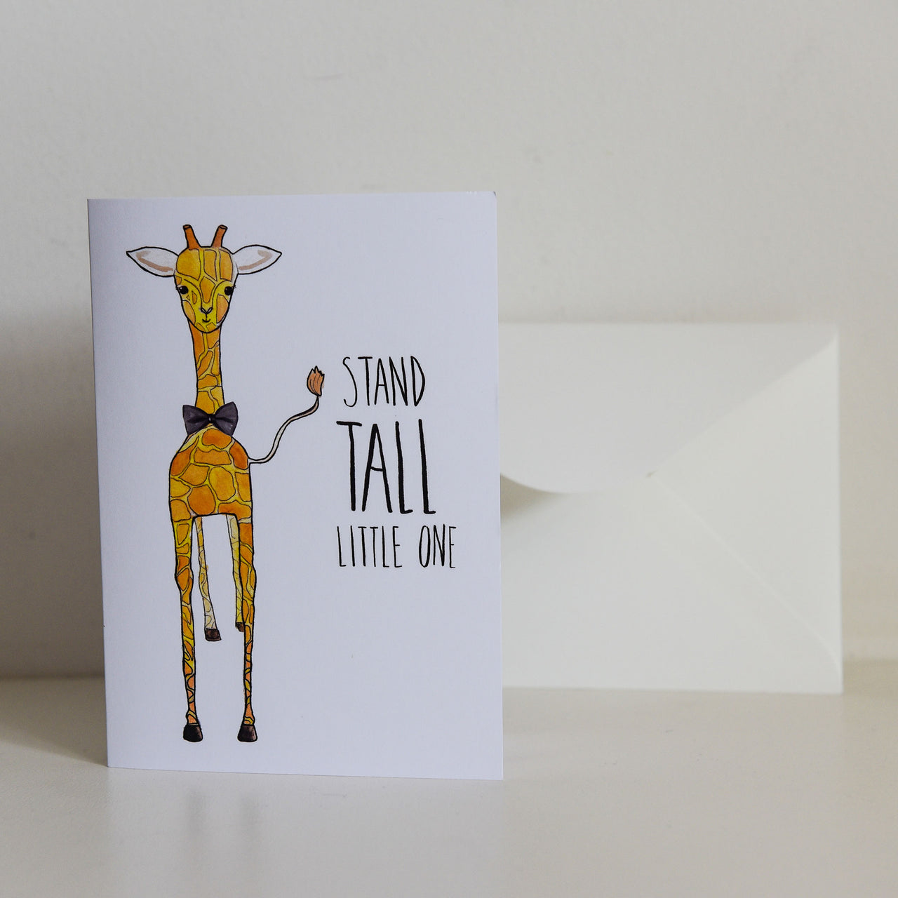 Watercolour 'Stand Tall Little One' Card