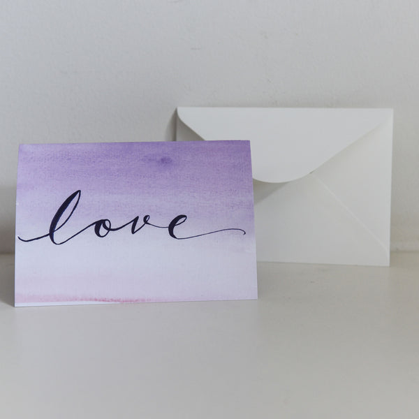 Watercolour Love Card
