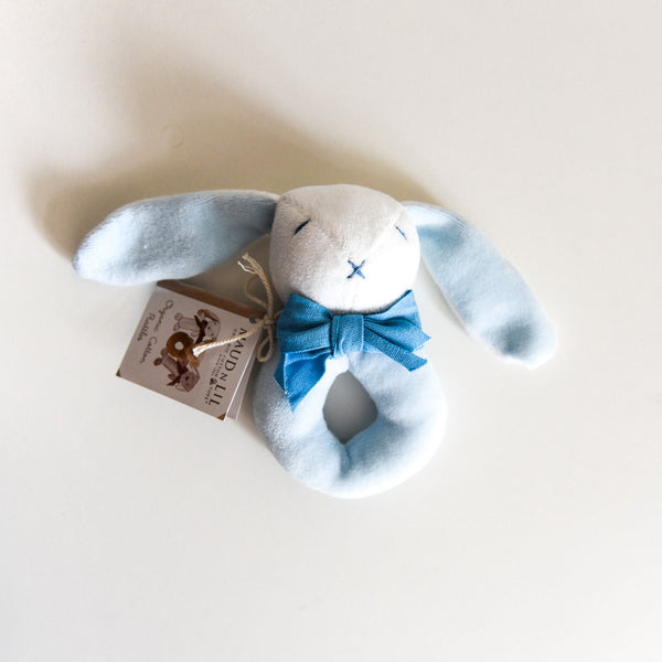 Bunny Donut Rattle - Blue