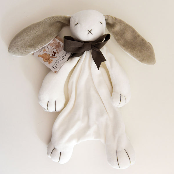 Bunny Soft Toy Comforter - Grey