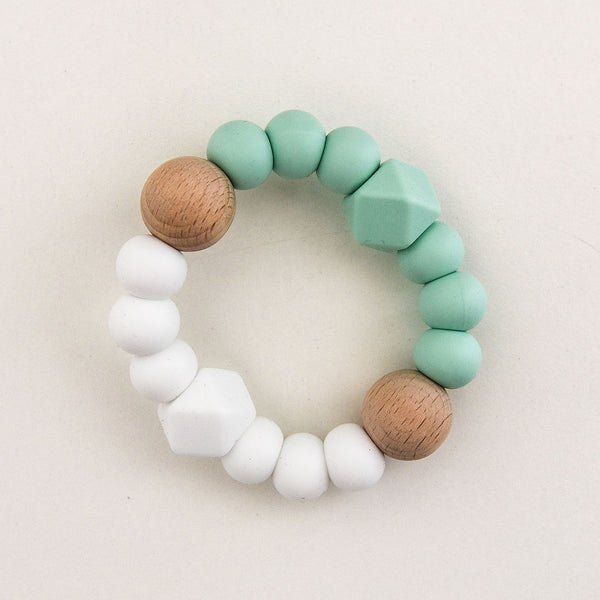 Textured Silicone Teether - Mint