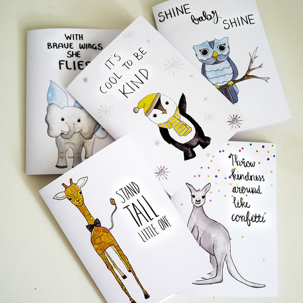Watercolour Animal Card Set