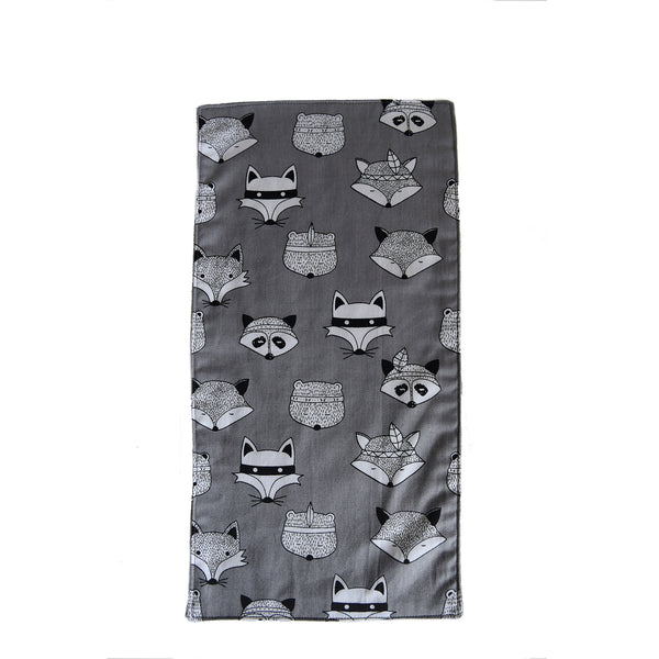 Woodland Animals Burp Cloth - Grey