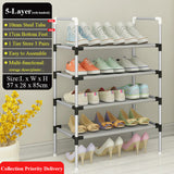 Simple Shoe Rack with Handrail Easy to Assemble Shoes Storage Shelf Space Saving Shoe Organizer Close to the door