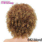 Long Red Black Afro Wig Kinky Curly Wigs for Black Women Blonde Mixed Brown 250g Synthetic Wigs