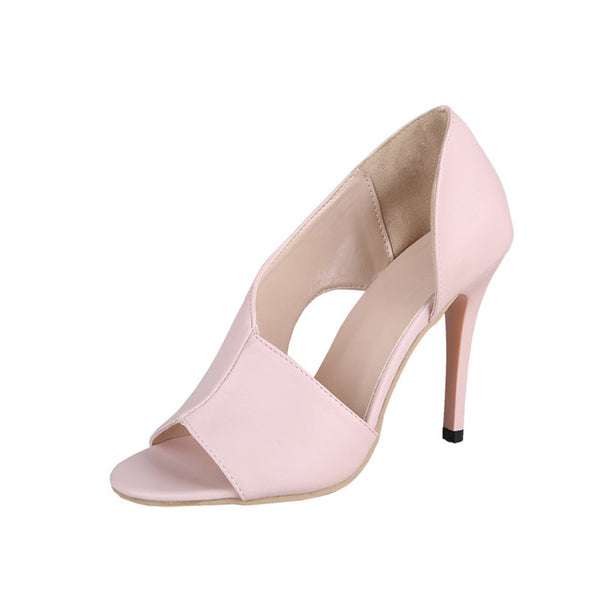 HOT Ladies Summer Sandals Fashion Solid Color Casual Open Toe Super High Heel Fish Head Pumps Rome Peep Toe Sexy Heels Gladiator
