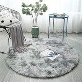 Pink Round Carpet Nordic Ins Style Gradient Colorful Rug For Living Room Bedroom Rugs Fur Mats Large Size Hanging Basket Mat