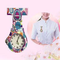 High  Colorful Silicone Round Dial Quartz Pocket Nurse Watch Quartz Brooch Doctor Nurse Hanging Watches DSM
