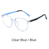 Ralferty Anti Blue Ray Glasses Kids Child Girl Round Glasses Frame TR90 Computer TV Phone Glasses Myopia Optic Spectacle K28059