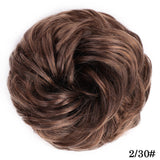 Vigorous Synthetic Bun Extensions Curly Messy Bun Hair Scrunchies Elegant Chignons Wedding Hair Piece for Women and Kids