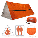 2 Person Emergency Shelter Outdoor Waterproof Thermal Blanket Rescue Camping SOS  Sleeping Bag  Survival Tube Tent With Whistle