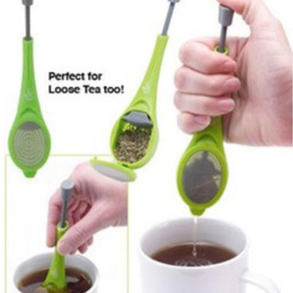 Flavor Total Tea Infuser Tea&Coffee Strainer Healthy Food Grade Plastic Gadget Measure Swirl Steep Stir And Press accessories