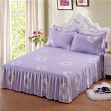 Soft Sanding Fitted Bed Sheet Cover Thicken Bedspread Twin King Queen Size Bed Skirt Wedding Bed Skirt Cover