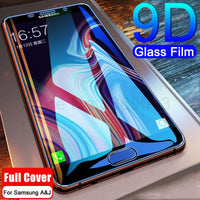 9D Full Cover Tempered Glass on the For Samsung Galaxy A3 A5 A7 2017 J3 J5 J7 2016 2017 Screen Protector Safety Protective Film