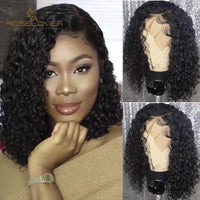 13x6 Lace Front Human Hair Wigs Pre Plucked with Baby Hair Deep Part Curly Malaysia Hair Remy Hair Lace Front Wigs 8-16""