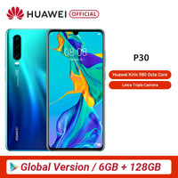 Global Version Huawei P30 6GB 128GB Kirin 980 Smartphone 30x Digital Zoom Quad Camera 6.1'' Full Screen OLED NFC 3650mAh