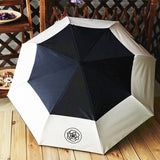 Small fragrant umbrella Ladies automatic Aluminium Alloy strong Frame Three Folding compact big rain umbrella big flower