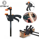 "4"" Inch F Woodworking Clamp Clamping Device Adjustable DIY Carpentry Gadgets quick Ratchet Release Speed Squeeze hand tools DT6"