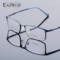 Eagwoo Aluminum Men Wide Face Prescription Eyeglasses  Full Rim Optical Frame Business Eye Glasses Light Big Spectacle MF2351