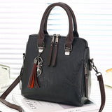 Vintage PU Leather Ladies HandBags Women Messenger Bags TotesTassel Designer Crossbody Shoulder Bag Boston Hand Bags Hot Sale