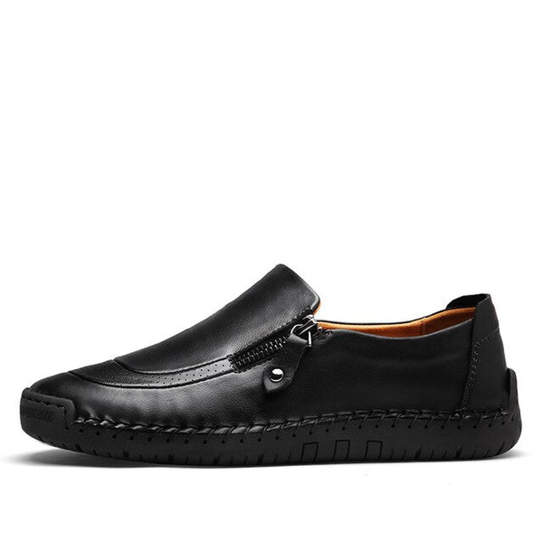 Plus Size 48 Men Loafers Split Leather Men Casual Shoes Comfortable Quality Men Flats Breathable Men Shoes New Arrival 2019