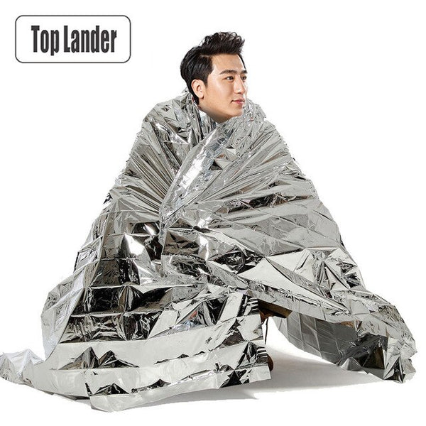 Emergency Foil Thermal Space Blanket Survival Rescue Military Waterproof Life Saving First Aid Blanket Outdoor Camping Climbing
