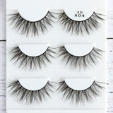 3 Pairs 3D Charming 100% Real Mink Hair Thick/Wispy/Cross/Wing False Eyelashes Natural Long Beauty Makeup Extension Tools