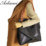 Arliwwi 2019 New Arrival Bags 100% Genuine Leather Handbags Large Capacity Hot Design Women Bags Multifunction Shoulder Bag
