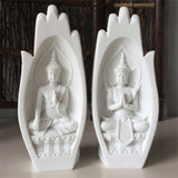 2Pcs Buddha Statue Hands Sculptures Monk Figurine Tathagata India Yoga Fengshui Home Decoration Accessories Dropshipping