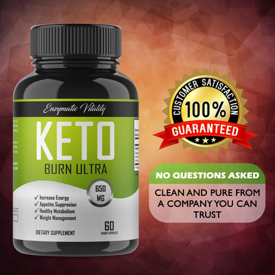 Keto Burn Ultra - All Natural Ketogenic Fat Burner With Antioxidants - Enzymatic Vitality