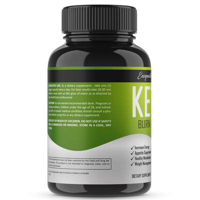 Keto Burn Ultra Keto Supplements Plus Antioxidants - Enzymatic Vitality