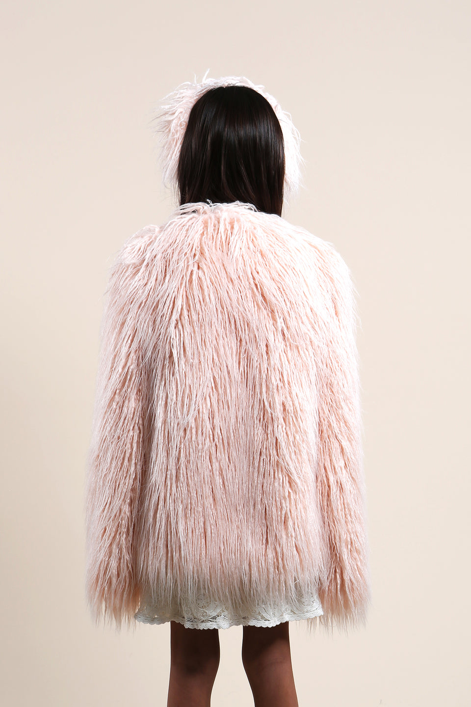 STRAWBERRY PINK FUR JACKET