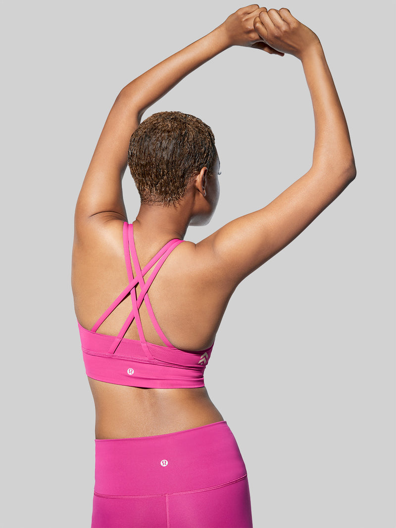 LULULEMON RASPBERRY ENERGY LONG LINE BRA