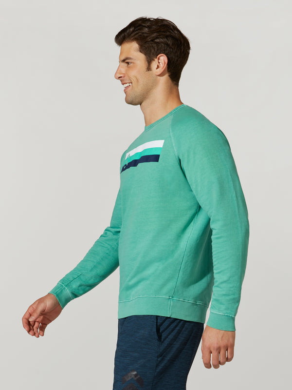 BARRY'S SPEARMINT TERRY PULLOVER